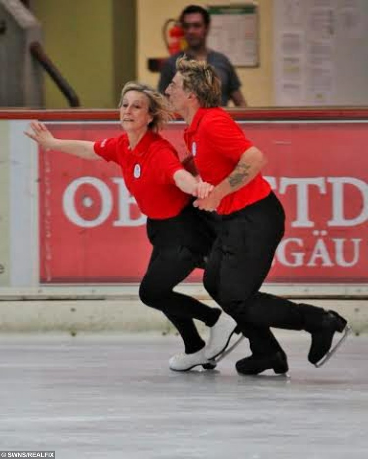 David and Pat Arnold performing at International Adult Ice Skating Competition in Oberstdorf, Germany in 2012. See Ross Parry copy RPYICE : A couple have proved those who skate together stay together after becoming the UKÃs oldest figure skaters following nearly 30 years of marriage. David and Pat Arnold first locked eyes over the ice back in 1984 and their love of skating has kept them solid ever since.  Their passion for one another mean theyÃre a success on and off the rink and have been crowned international adult elite champions for the past five years. David, 62, said: ÃOur love of skating makes our marriage really special. ItÃs a really unique kind of relationship. ÃBeing married helps us to compete because itÃs easier to skate as a couple. You donÃt have to act because it comes naturally