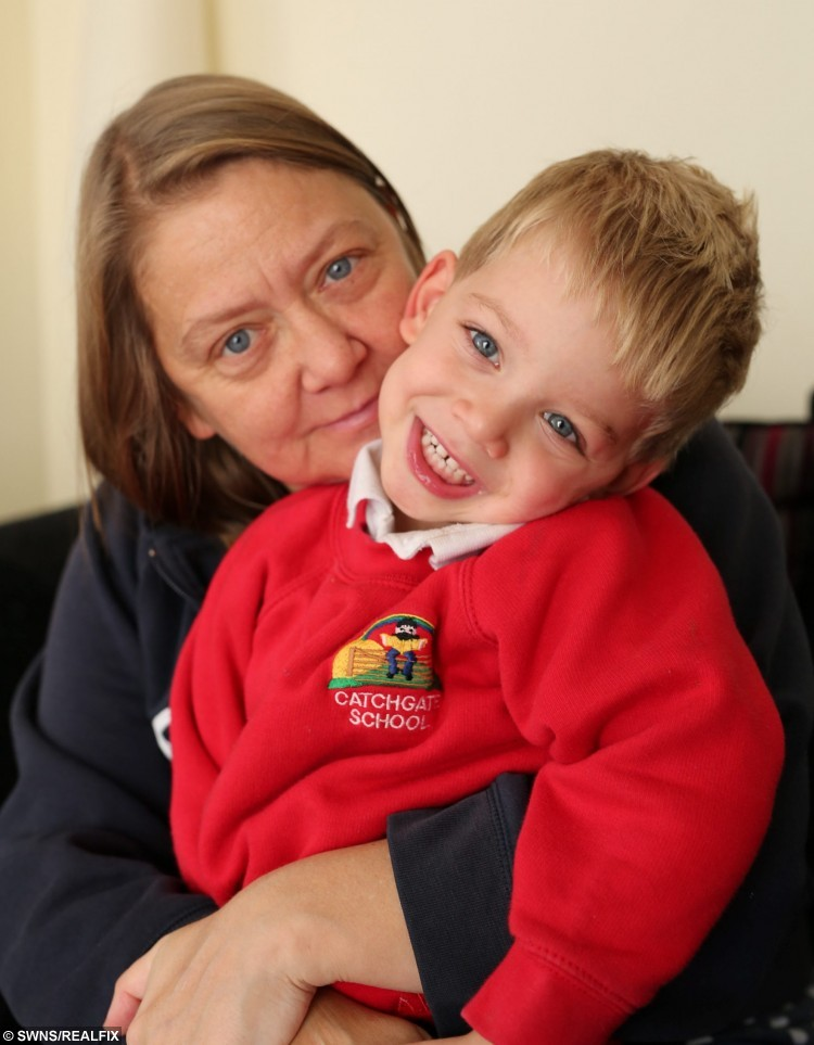 Mandy O'Connor from Stanley, County Durham, has written an online plea on social media to find a kidney donor, for the sake of her 4 year old son Aidan. Mandy was diagnosed with chronic kidney disease 3 years ago. November 5 2015. See Ross Parry Copy RPYKIDNEY