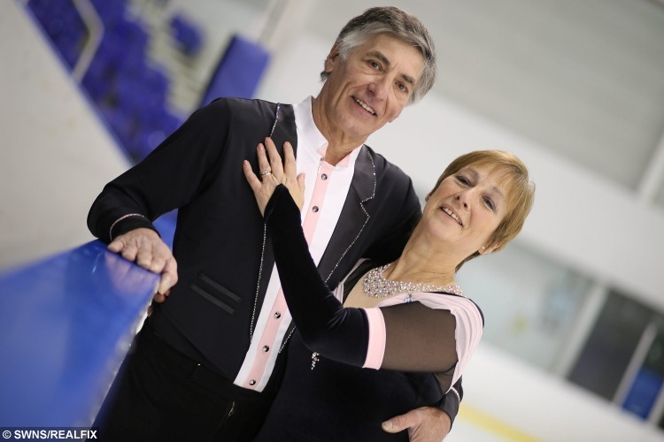 David and Pat Arnold of Nottingham are the UK's oldest ice skaters after falling love across the ice almost 30 years ago. They first locked eyes on one another back in 1984 and their love of skating has kept their marriage solid ever since. Their passion for one another mean theyre a success on and off the rink and have been crowned international adult champions for the past five years. See Ross Parry copy RPYICE : A couple have proved those who skate together stay together after becoming the UKÃs oldest figure skaters following nearly 30 years of marriage. David and Pat Arnold first locked eyes over the ice back in 1984 and their love of skating has kept them solid ever since.  Their passion for one another mean theyÃre a success on and off the rink and have been crowned international adult elite champions for the past five years. David, 62, said: ÃOur love of skating makes our marriage really special. ItÃs a really unique kind of relationship. ÃBeing married helps us to compete because itÃs easier to skate as a couple. You donÃt have to act because it comes naturally