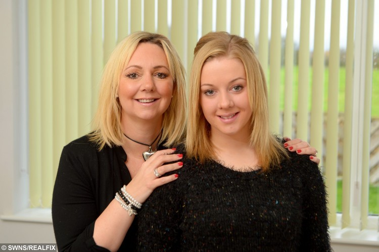 Olivia Key, 18, of Barton, who says her love of sports has helped her overcome her illness. Pictured at home with her mum, Mandy Key. See Ross Parry copy RPYCANCER : A courageous teenager who battled ovarian cancer at just 17-years-old has spoken of how her love of sport helped her to beat the disease.  Olivia Key, now 18, visited her doctor at the start of her final school year after she noticed a bump in her stomach. Tests carried out in November 2014 revealed the devoted sportswoman was suffering from a cyst measuring almost 30cm and doctors had discovered cancer in her left ovary. She was rushed into surgery at St James's Hospital in Leeds, West Yorks., where doctors removed the entire cyst as well as her left ovary and fallopian tube. Determined not to let her operation slow her down, Olivia was keen to start her football training and returned to the pitch for South Cave ladies football team, in Hull East Yorks., less than two months later.