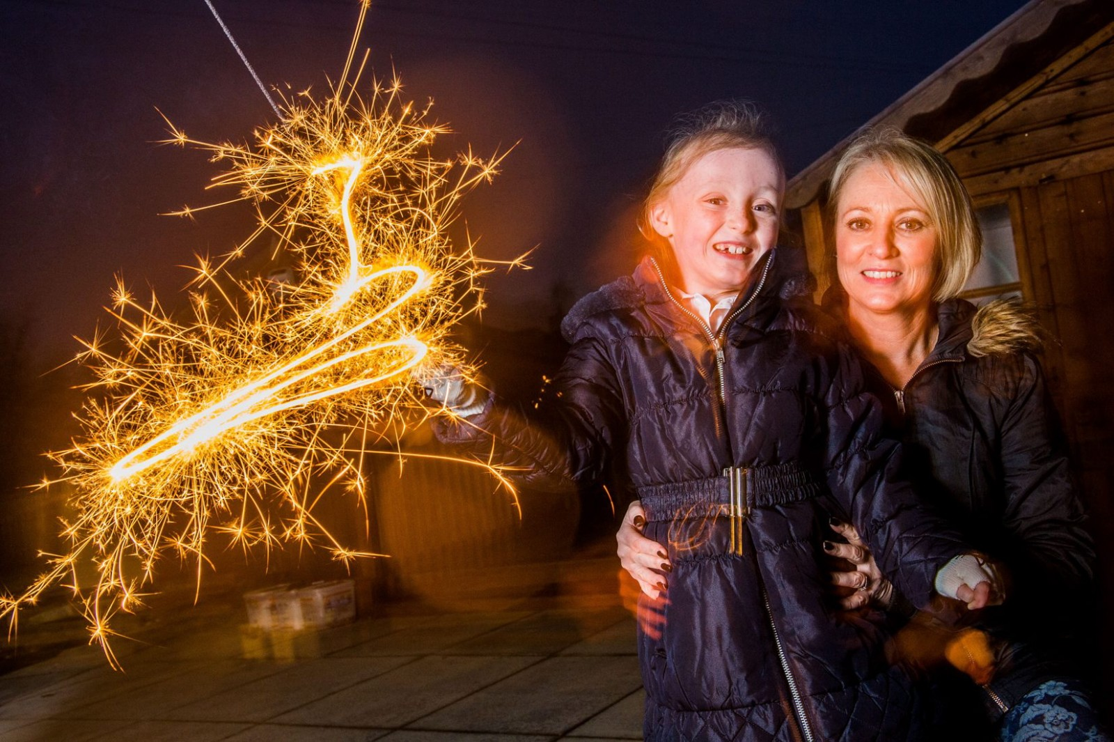 Little girl will celebrate being able to walk by DANCING on Bonfire Night