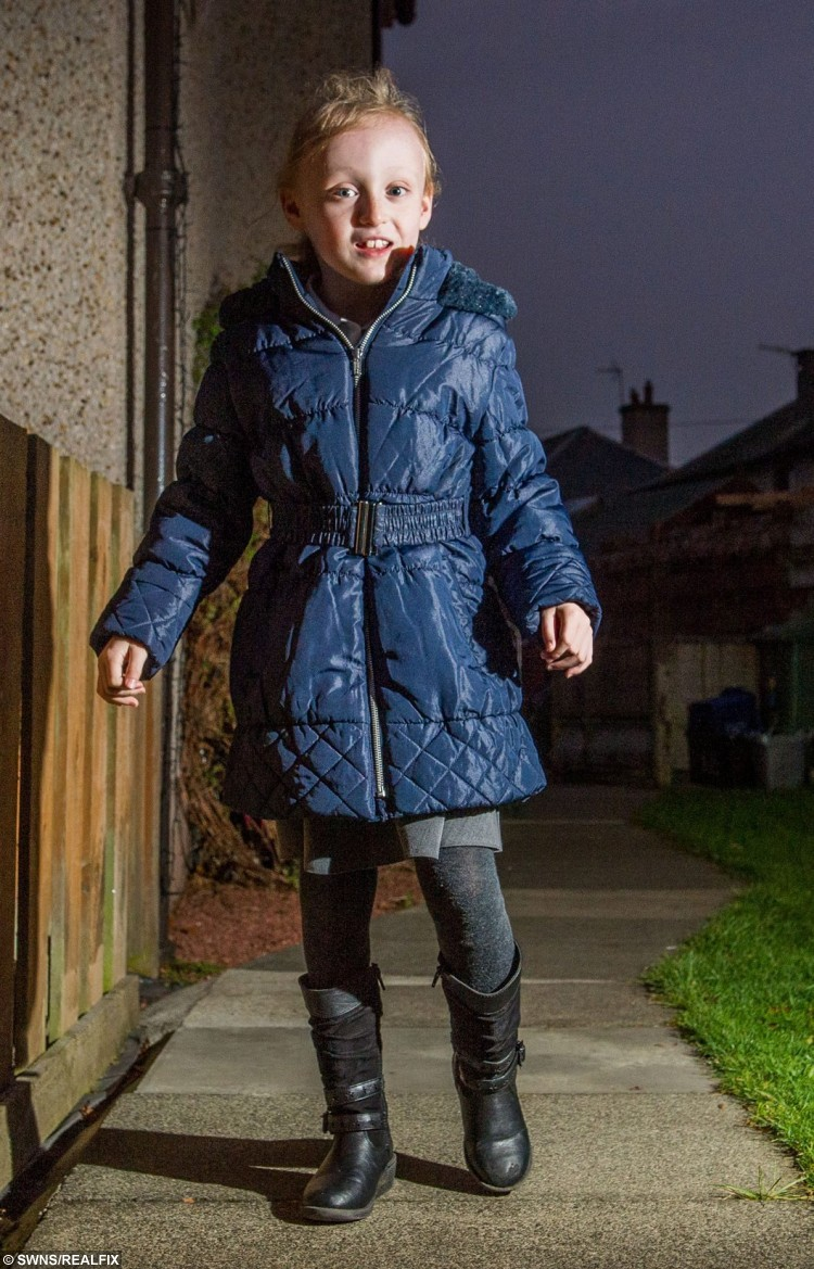 Maya McRobbie a from Edinburgh was diagnosed with diplegic cerebral palsy as a baby and after an operation in the USA was been able to walk. See Centre Press story CPWALK; A little girl who faced being wheelchair-bound has bounced back after a life-changing operation has given her the freedom to walk. Maya McRobbie, seven, was diagnosed with diplegic cerebral palsy as a baby. The debilitating condition makes the hamstrings, calves and adductors tight, making  it difficult for her to walk and unable to cross her legs when sitting down. Maya wore splints, regularly used a Zimmer and occasionally required a wheelchair to get around. But thanks to an operation, the youngster from Musselburgh, East Lothian, will now be able to perform in a dancing show with her friends.