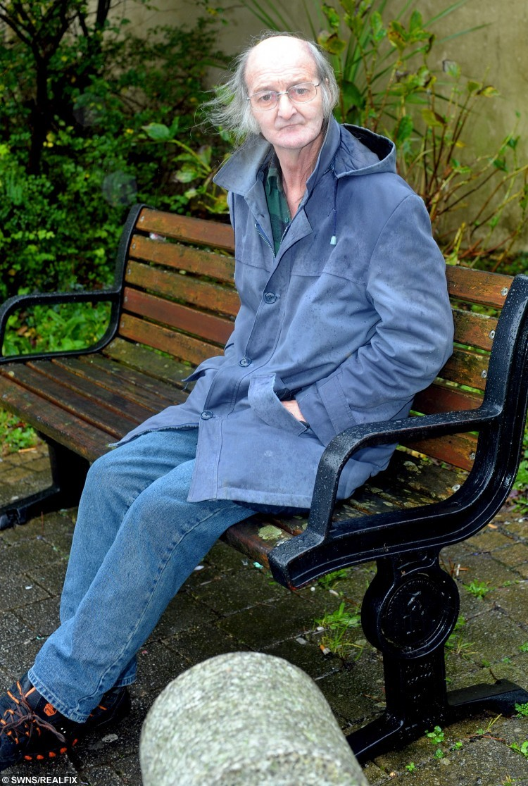 Philip Raynes who is looking for a mystery OAP. See SWNS story SWLOVE: A love-struck pensioner is asking for help to track down a mystery OAP he met on a bench - but didn't have the guts to give his number to. Retired Philip Raynes, 63, was sitting on a bench in his home town when an elderly woman walking her dog came to sit next to him. The pair shared a ''magic moment'' together, before Philip's taxi arrived and he ran off without so much as exchanging names with the woman. He is now appealing for help to track down the woman, as he does not want to spend his twilight years alone.