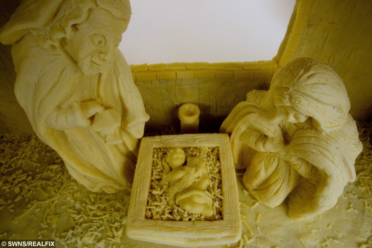 Check Out This Nativity Scene Made Entirely From Cheese