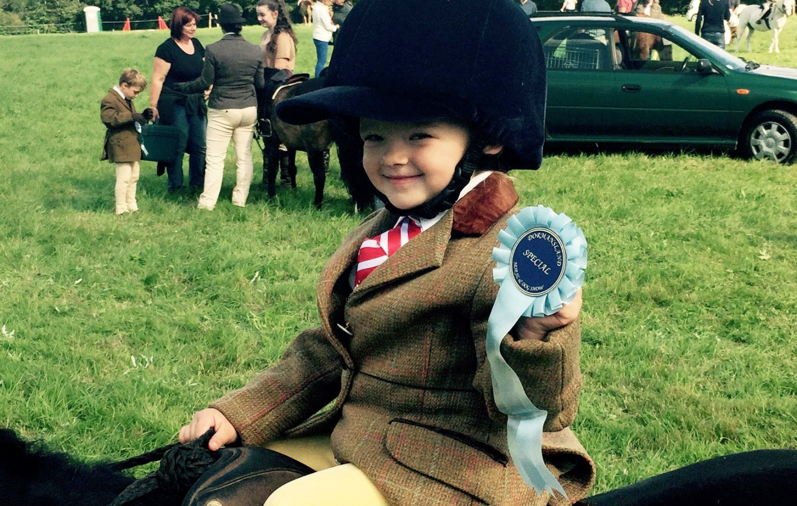 Toddler survives being kicked in the head by a horse