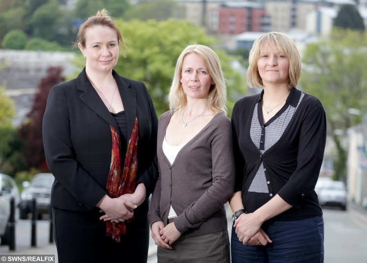 """John Keady's victims, from left to right, Laura Hudson, Sara Terry and Mabel Arnill. See SWNS story SWRAT; Britain's 'biggest love rat' who conned single women out of Ã2M is back behind bars after two years on the run - funded by scamming Ã50,000 out of three new victims. Serial conman John Keady funded his luxury lifestyle for 20 years by fleecing scores of victims he met online all over the world with a string of outrageous lies. Cops described him as a having a """"a PhD in deception"""" and say he left his victims heartbroken and riddled with debt. The 49-year-old cheat used several aliases and oozed wealth à he wore designer clothes, kept a BMW outside his home, showed girlfriends round multi-million-pound homes and jetted all over the world."""