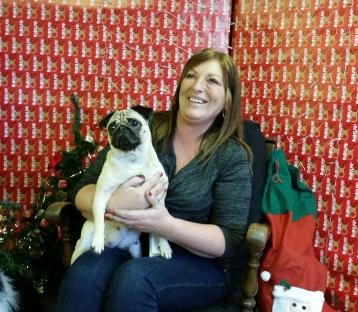 A pug stolen 14 months ago has finally been reunited with her owner