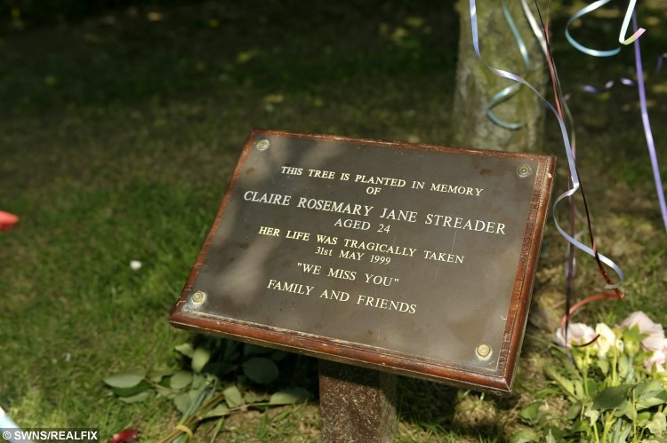 """Scene of the murder of Claire Streader in St Stephens Park, Canterbury.  A convicted murderer who strangled a young mum to death with her own jumper has taken to Facebook to celebrate his release from jail.  See MASONS story MNKILLER.  Former taxi driver Merrick Rogers, 40, posted a photo of himself smiling and clutching a pint of Guinness after serving 15 years for the murder of Claire Streader, 24, in 1999.  Rogers - described as a 'dangerous young man' when jailed in 2000 - also took to Twitter.  He wrote: """"life doesn't always work out the way you want it to"""" and """"suck it up and make the most of every situation, no matter how bad it seems.""""  Rogers, of Sittingbourne, Kent, was jailed for sexually assaulting and strangling Claire whose body was later found dumped in a park in Canterbury, Kent.  He has always maintained his innocence.  The photos emerged only two weeks after Miss Streader's father Peter passed away aged 72."""