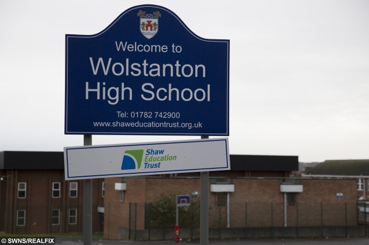 Gv of Wolstanton High School in Wolstanton, Staffs, which allowed Michelle Parrish to take her son Cameron, 14, out of school during term time for a holiday.  A mum has hit out at controversial term-time holiday rules – after being fined £120 for taking one of her sons out of lessons while her other child escaped punishment for going on the same trip.  See NTI story NTIHOLS.  Michelle Parrish' sons Cameron and Miles Parrish missed lessons to go on the two-week 'once-in-a-lifetime' Caribbean cruise with their extended family during October.  The absence of Michelle's eldest child Cameron, aged 14, was approved without financial penalty by Wolstanton High School.  But 10-year-old Miles's term-time holiday incurred the wrath of the headteacher at Wolstanton's St Margaret's Junior School.