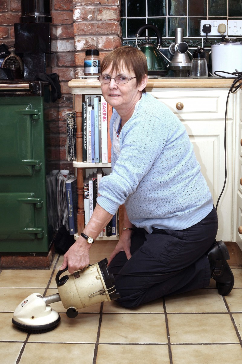 After Mary has cleaned and polished the floor with the Piccolo she uses it to make a cup of tea