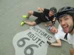 Three friends on charity tandem bike ride survive crash on Route 66