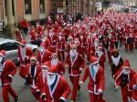 Hundreds of Santas make a dash for cash!