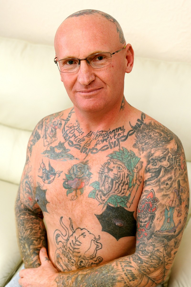 Tattoo lover Richard has over 100 inkings on his body