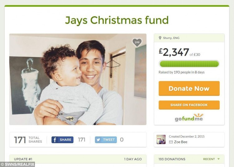 The go fund me page set up for Jay El-Leboudy after he found out he wasn't going to be paid for hours he worked in a Londis shop. See SWNS story SWWORK; A teenager who unknowingly worked unpaid at a Londis corner shop for ten weeks has vowed to buy presents for children at Great Ormond Street Hospital after he was flooded with donations. Jay El-Leboudy, 15, has received more than Ã2000 in donations after he was told that the hours he worked to save money for his familyÃs Christmas presents à was work experience. After two weeks at the store Jay said he was given Ã75, but when he asked about further payment a few weeks later, he was told he was there unpaid à but could have a few hot drinks. Jay, from Sturry, Kent, will now donate more than Ã1000 of the cash given to him by people moved by his story à and share gifts with children at the Great Ormond Street Hospital, where he was saved from paralysis as a child. People from as far as Australia and Florida have been donating up to Ã100 and he has even been offered a new job delivering leaflets for the Canterbury ghost tours.