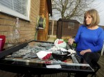 Cancer-sufferer's house trashed by callous yobs after wild New Year's Eve party