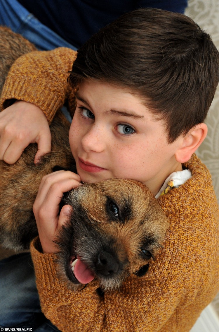 Charlie Draycott & Ginny.  The family of a dog who disappeared almost a year ago have urged owners of missing pets not to give up hope – after being reunited with their beloved pet pooch.  See NTI story NTIDOG.  Hannah Denton, Mark Draycott and their son Charlie, 9, from Shobnall, made the impassioned plea after welcoming home the their border terrier Ginny on New Year's Day after thinking they had lost her forever.  The family also thanked the public for their help after a campaign to track her down spread across the entire country.