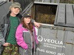 Couple forced to live in a SKIP after losing their jobs