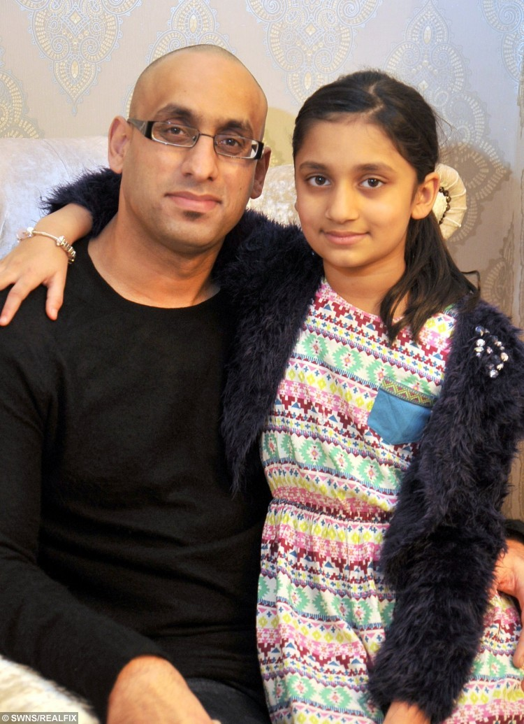 "Imran Najeeb whose sick mum refused to let him donate her a kidney tricked her in to the transplant - by pretending he was already selling his organ on EBAY. Pictured with his daughter Imaan aged 8. See Ross Parry copy RPYEBAY : A son whose sick mum refused to let him donate her a kidney tricked her in to the transplant - by pretending he was already selling his organ on EBAY. Caring Imran Najeeb offered his mother Zainab Begum a kidney after her own suffered damage and were only functioning at 25 per cent. But she refused because she didn't want him to put his own life ""at risk'' by helping her. Bank manager Imran, 34, then told his mother he was already donating his kidney anyway - and was selling it on EBAY. Imran then took advantage of the fact his mother doesn't speak good English and showed her a picture of a kidney he got from Google - and told her it was his."