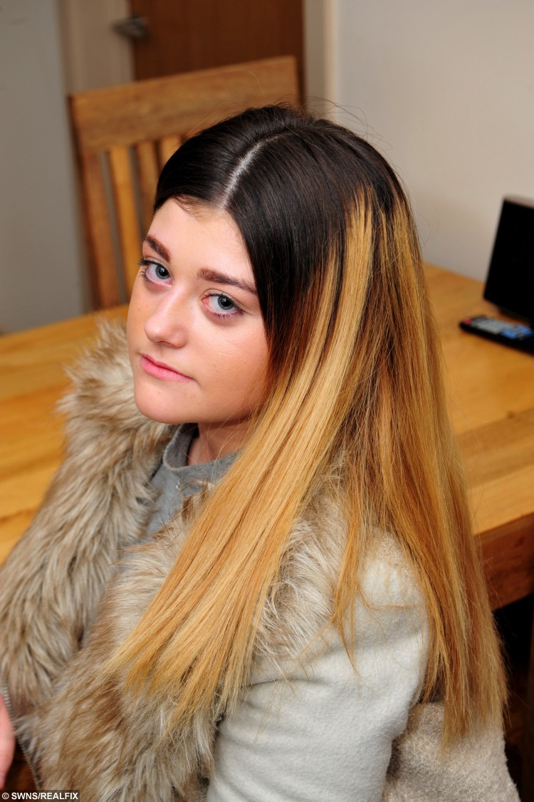 "13 year old Daisy Kelly from Grimsby, North Lincolnshire, who has been told she must do her school work in an 'inclusion unit' at school, due to her dip dyed hair style. See Ross Parry copy RPYHAIR : A furious mum has threatened to pull her teenage daughter out of a top school after she was segregated from other pupils - because of a 'dip dye' hairstyle. Complex case nurse Diane Kelly has hit out at the school's decision to put her 13-year-old daughter Daisy into inclusion for her 'ombre' hairdo. Fuming Diane said that one teacher had even complimented the pupil on her new hairstyle at the start of term. However, the teen was put into ""inclusion"" last week and segregated from her schoolmates and classes. Tollbar School in Grimsby, North East Lincs.,  remains firm that students are not allowed two-tone hair, nor have ""extreme"" or ""vivid"" hair colours."