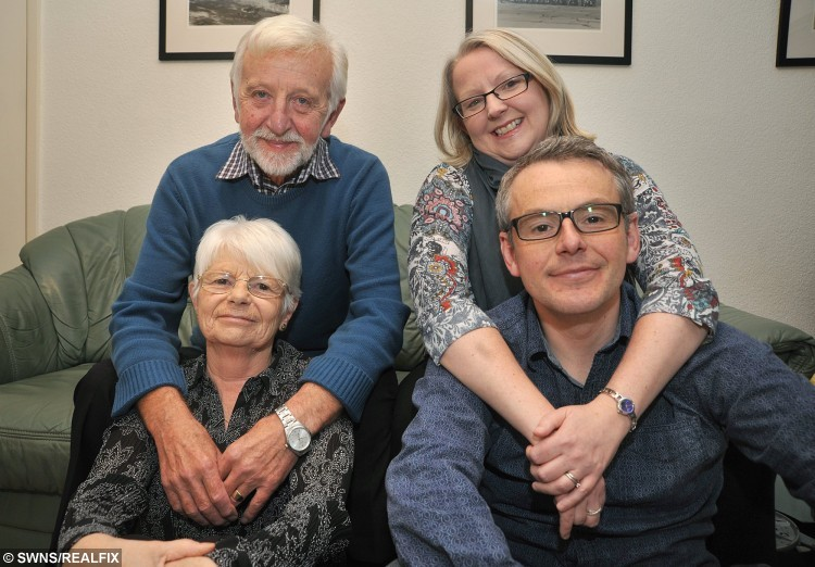 """In a remarkable repeat of a previous act of generosity, Joanne Boylan has donated one of her kidneys to brother Rick Flemming, twelve years after their father David donated one of his kidneys to wife Margaret. (l-r) David, Margaret, Rick and Joanne. See Ross Parry copy RPYKIDNEY : A loving sister gave her ailing brother a kidney for his birthday 13 years after their dad donated one his kidneys to their mum. When generous Joanne Boylan was asked what she got brother Rick for his 40th she says """"I gave him one of my kidneys"""". The siblings have always been close but after Joanne was found to be a perfect match and gave one of her organs to her younger brother they are now closer than ever. But this was the second time kidneys had been swapped between family members, because 13 years before Joanne's live donation her parents had done the same thing. Devoted couple Margaret and David Flemming went through the transplant together, after David turned out to be a perfect match, despite the odds being similar to winning the Lottery."""
