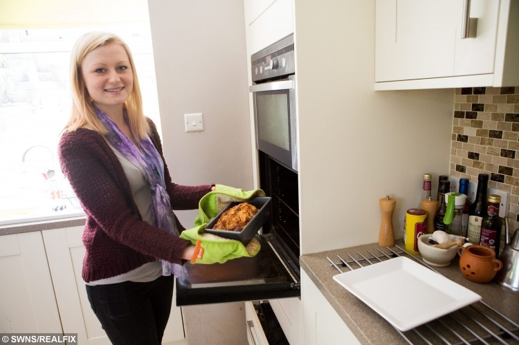File picture of Former anorexia sufferer Nicola Davis who is publishing a self-help cookbook on how to beat it. Pictured at home in Box, Somerset. Nicola also runs her own crafts business creating pieces all about positivity. A brave teenager whose eating disorder saw her weight plummet to six stone has published a cookbook of the recipes which helped her recover. See SWNS story SWBOOK. Former anorexic Nicola Davis, 19, began starving herself two years ago and quickly became dangerously thin, shedding more than two stone. She exercised frequently and survived on minus calories but continued cooking in spite of her illness, creating tasty treats for her family - which she wouldn't touch. But her jealously soon got the better of her and, unable to watch her family try her recipes without her, she slowly started eating properly again.