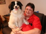 Woman saved from choking when her DOG performs Heimlich manoeuvre