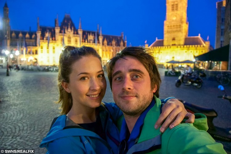 Collect of Emma Cox and boyfriend, Alex Collins traveling destination unknown. See SWNS story SWQUEST; A girlfriend's romantic treasure hunt for her long-distance partner has gone viral - after her clues led him on a 230-mile quest on a train, bus and plane. Sweethearts Alex Collins and Emma Cox, 27, both met while travelling in Thailand but were forced to live 190 miles apart when they returned home to the UK. But cunning Emma set up a series of clues for her beau, starting with an envelope hidden in a cupboard, and ending with a flight to Dublin - where she was waiting. The smitten pair, who enjoyed a loved-up weekend break, shared the photos of her clues online, and the posts went viral with 130,000 views.