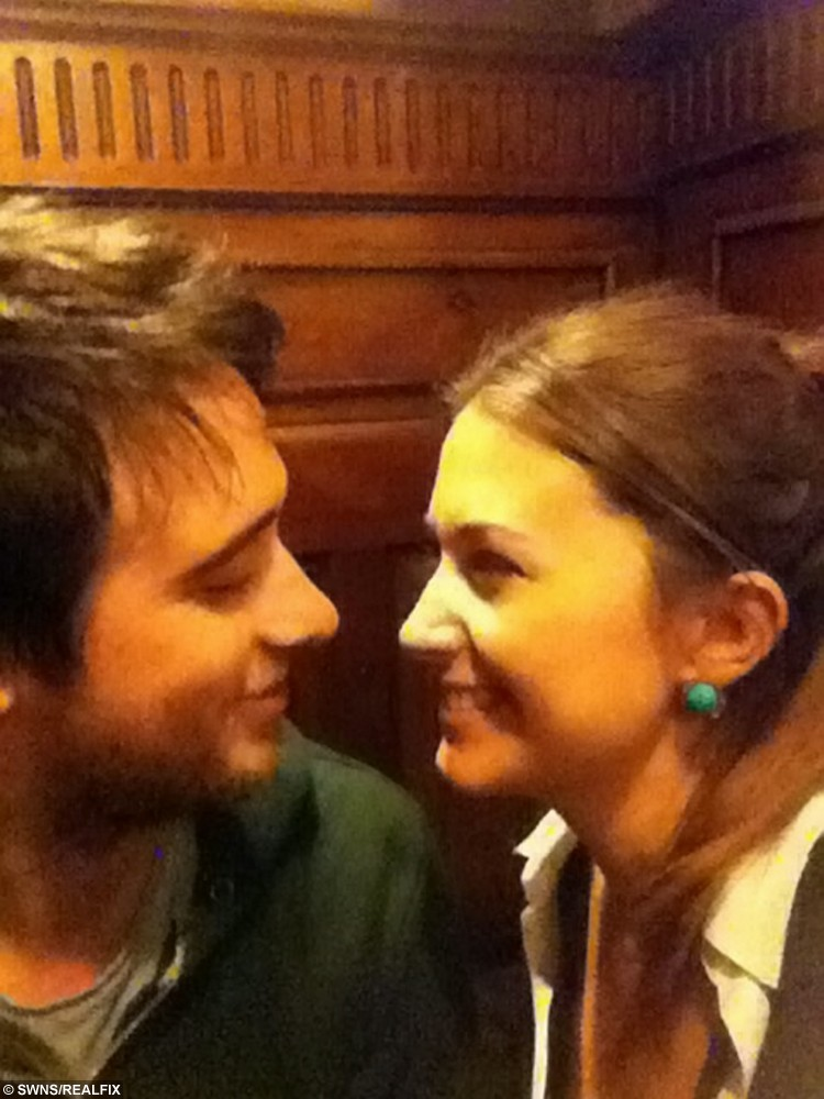 Collect of Alex Collins and Emma Cox, 27, reunited in Dublin. See SWNS story SWQUEST; A girlfriend's romantic treasure hunt for her long-distance partner has gone viral - after her clues led him on a 230-mile quest on a train, bus and plane. Sweethearts Alex Collins and Emma Cox, 27, both met while travelling in Thailand but were forced to live 190 miles apart when they returned home to the UK. But cunning Emma set up a series of clues for her beau, starting with an envelope hidden in a cupboard, and ending with a flight to Dublin - where she was waiting. The smitten pair, who enjoyed a loved-up weekend break, shared the photos of her clues online, and the posts went viral with 130,000 views.