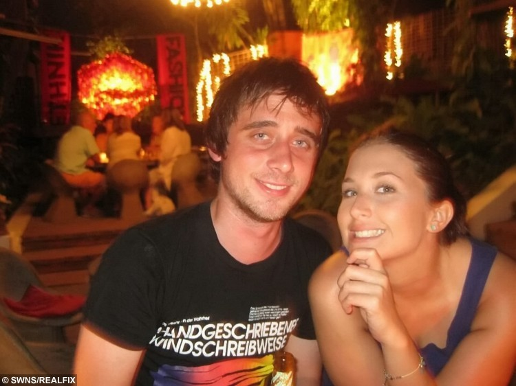 Collect of Alex Collins and Emma Cox when they met in Thailand in 2012. See SWNS story SWQUEST; A girlfriend's romantic treasure hunt for her long-distance partner has gone viral - after her clues led him on a 230-mile quest on a train, bus and plane. Sweethearts Alex Collins and Emma Cox, 27, both met while travelling in Thailand but were forced to live 190 miles apart when they returned home to the UK. But cunning Emma set up a series of clues for her beau, starting with an envelope hidden in a cupboard, and ending with a flight to Dublin - where she was waiting. The smitten pair, who enjoyed a loved-up weekend break, shared the photos of her clues online, and the posts went viral with 130,000 views.