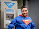 'Superman' saves the day when a villain tries to rob woman at cashpoint