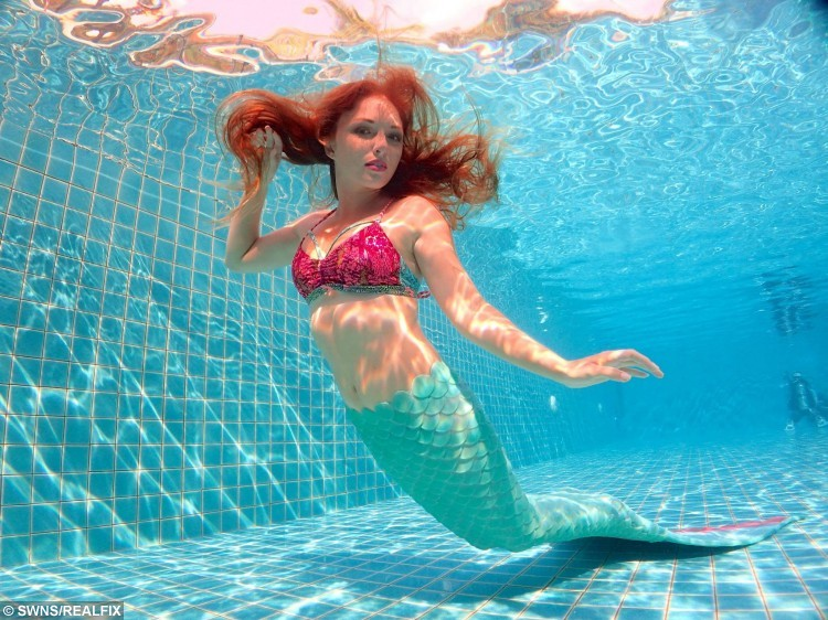 Mermaid Melanie Long, 25, from Old Kilpatrick, who has made a living from being a professional mermaid.   See Centre Press copy CPMERMAID: A girl who grew up idolising Ariel the Disney sea princess has achieved her dream - and now makes her living as a real life mermaid. Flame-haired Melanie Long, 25, grew up surrounded by murals of Ariel in her bedroom and told anyone who would ask that she wanted to be The Little Mermaid. But unlike most childhood dreams and ambitions, hers has come resoundingly true after she moved to Phuket, Thailand, five years ago to travel and work as a diver. Initially, Melanie, from Clydebank, West Dunbartonshire, worked as a scuba diving instructor.