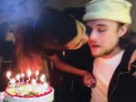 The Happy Birthday kiss that got this woman a bit hot under the collar