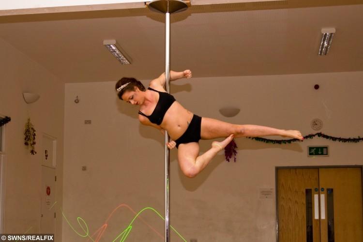 Zoe Hardy, who runs the pole fitness classes