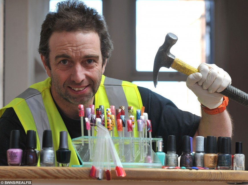 Builder by day, beautician by night – this burly bloke is hard as ...