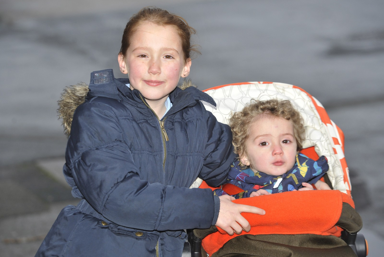 Heroic 8-year-old rescues baby brother after epileptic mum collapses in the street