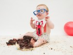 Amazing photos show toddlers having a smashing time with their birthday cakes