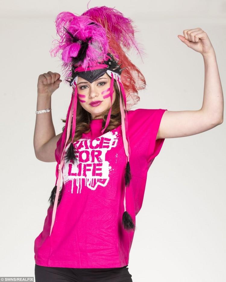 Morgan Steele, 14, is currently battling thyroid cancer