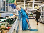 Meet the real-life Elsa from Frozen – who goes to the SHOPS dressed as an ice-princess.