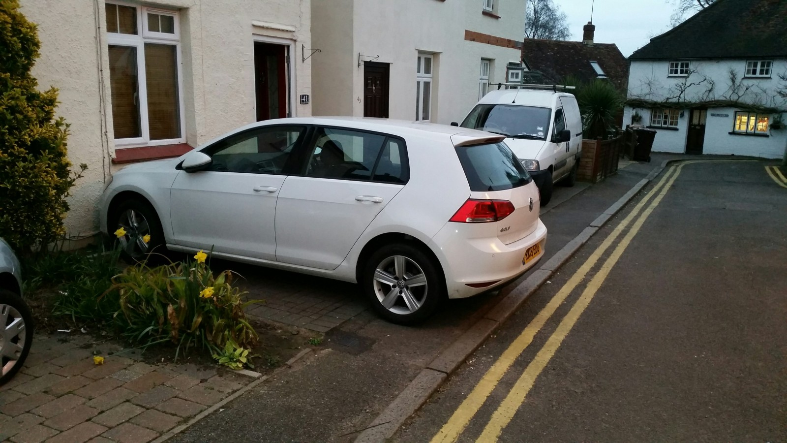 Niall McCarthy's car parked on his drive - where he received a parking ticket.