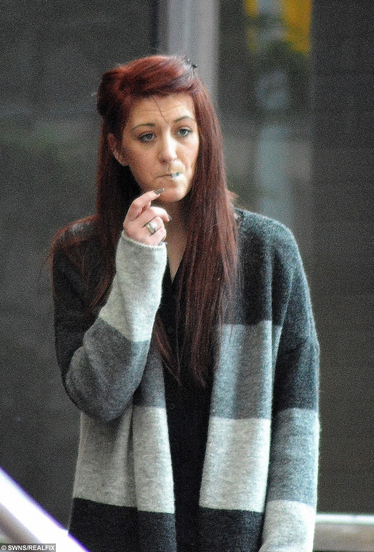 """Kathryn Smith, 22, pictured outside Birmingham Crown Court.  A 21-month-old girl could be heard by neighbours begging """"stop mummy, stop daddy"""" just days before she was stamped on to death by one of her parents, a court heard. See NTI story NTITOT.  Mum Kathryn Smith, 23, and her partner Matthew Rigby, 22, have gone on trial accused of murdering tragic tot Ayeeshia Jane Smith. A court heard the child died after from a laceration to her heart that was caused by a powerful foot stamp on her chest, which triggered a cardiac arrest. Ayeeshia had only been returned to Smith six months before her death on May 1, 2014, having previously been taken into care by social services."""