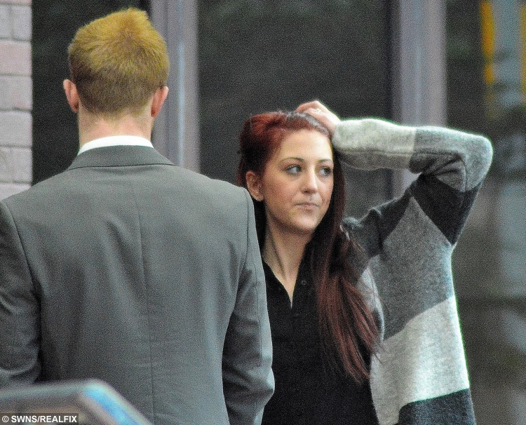"""Kathryn Smith, 22,  and Matthew Rigby, 21, pictured outside Birmingham Crown Court.  A 21-month-old girl could be heard by neighbours begging """"stop mummy, stop daddy"""" just days before she was stamped on to death by one of her parents, a court heard. See NTI story NTITOT.  Mum Kathryn Smith, 23, and her partner Matthew Rigby, 22, have gone on trial accused of murdering tragic tot Ayeeshia Jane Smith. A court heard the child died after from a laceration to her heart that was caused by a powerful foot stamp on her chest, which triggered a cardiac arrest. Ayeeshia had only been returned to Smith six months before her death on May 1, 2014, having previously been taken into care by social services."""