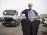 A Lardy lorry driver who gorged on daily fry-ups has lost a whopping 21 STONE
