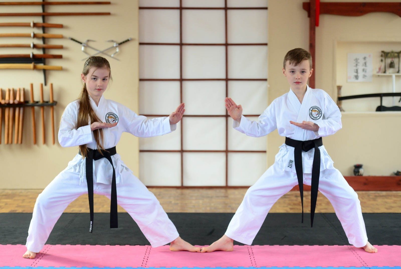 Karate kids Jac and Millie Cartledge have definently made their parents proud