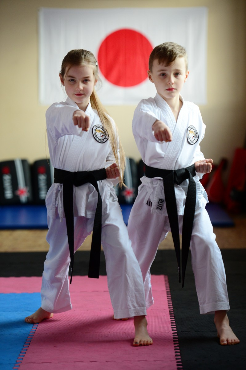 Karate kids Jac and Millie Cartledge are among the youngest karate black belts in the country.