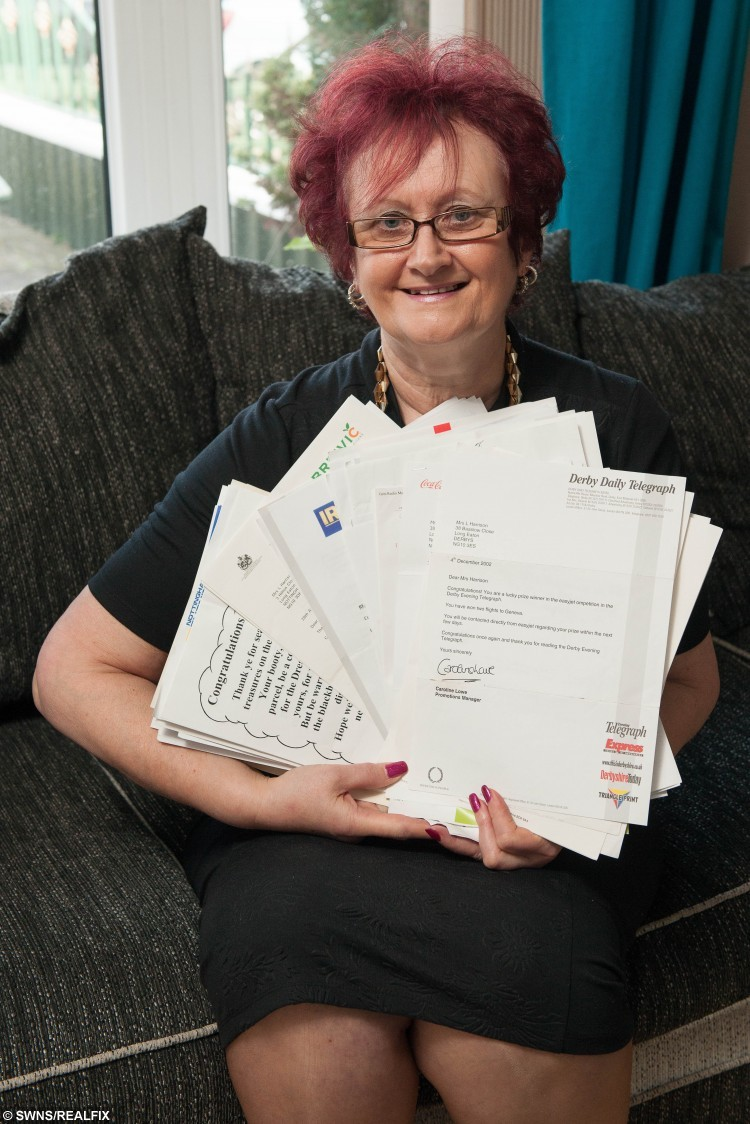Lorraine might be Britain's luckiest gran after scooping more than £100,000 worth of prizes - after winning 500 competitions