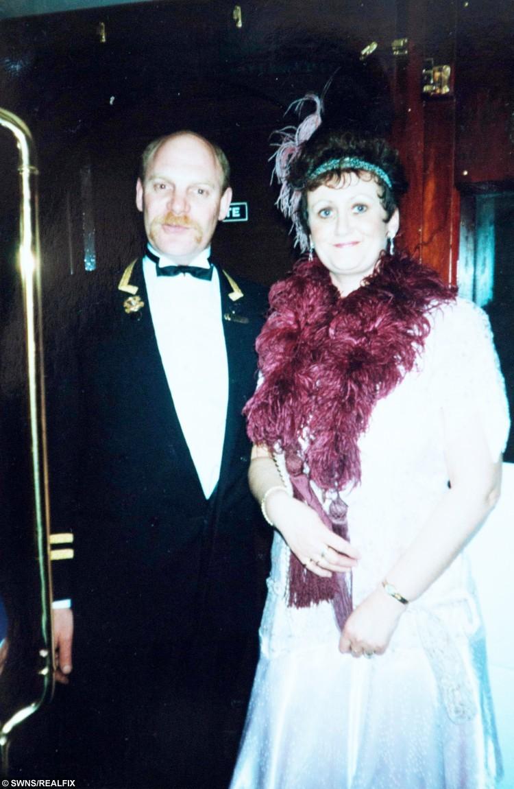 Lorraine on board the Orient Express in 1994