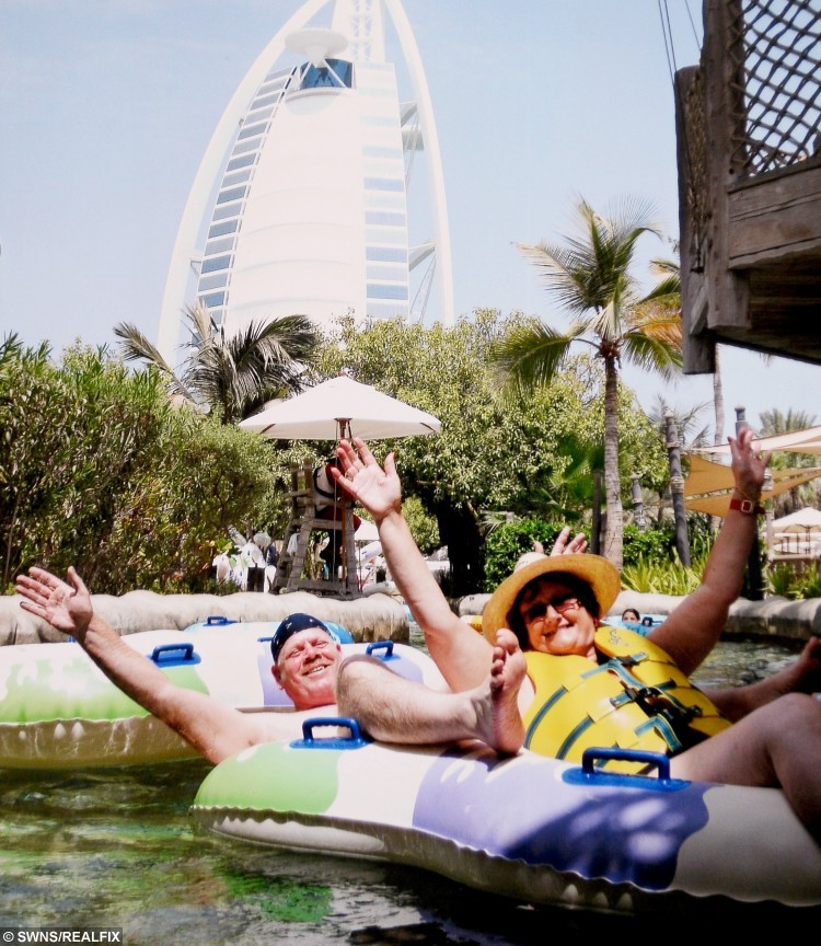 Lorraine's trip to Dubai in 2012, which she won from Times Travel Magazine