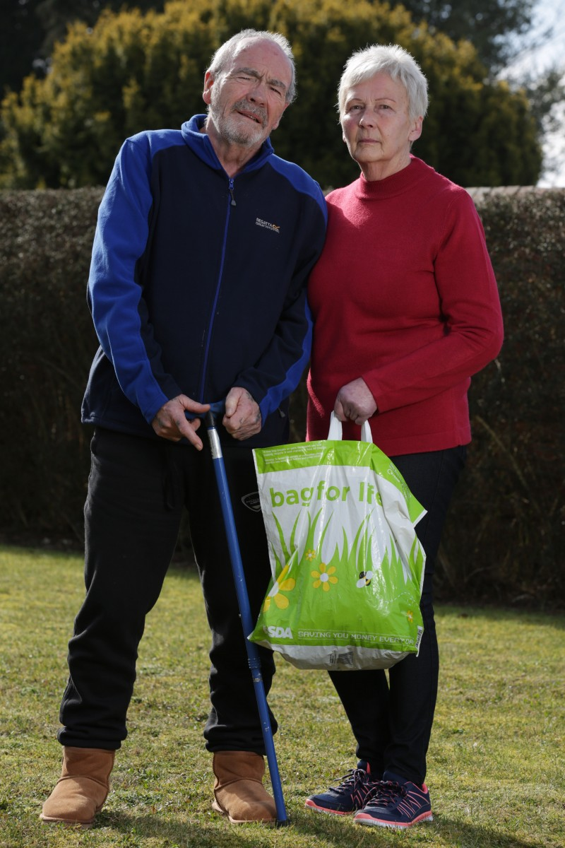 Gwen and Tony Richardson from York were stripped searched with their daughter at a local Asda store