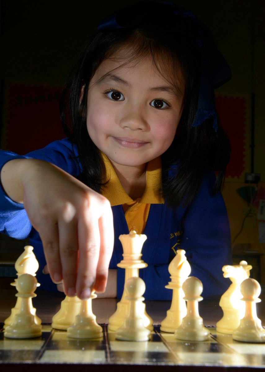 Smart move – a six-year-old girl is on her way to becoming a chess master