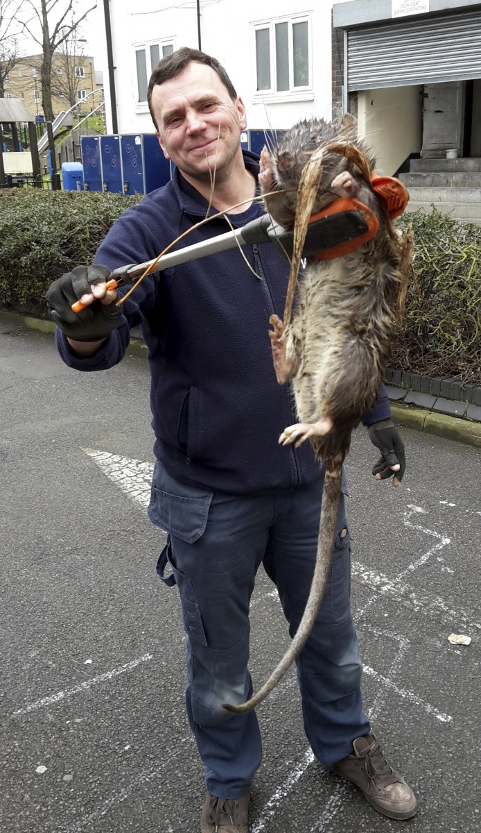 James Green with the giant rat